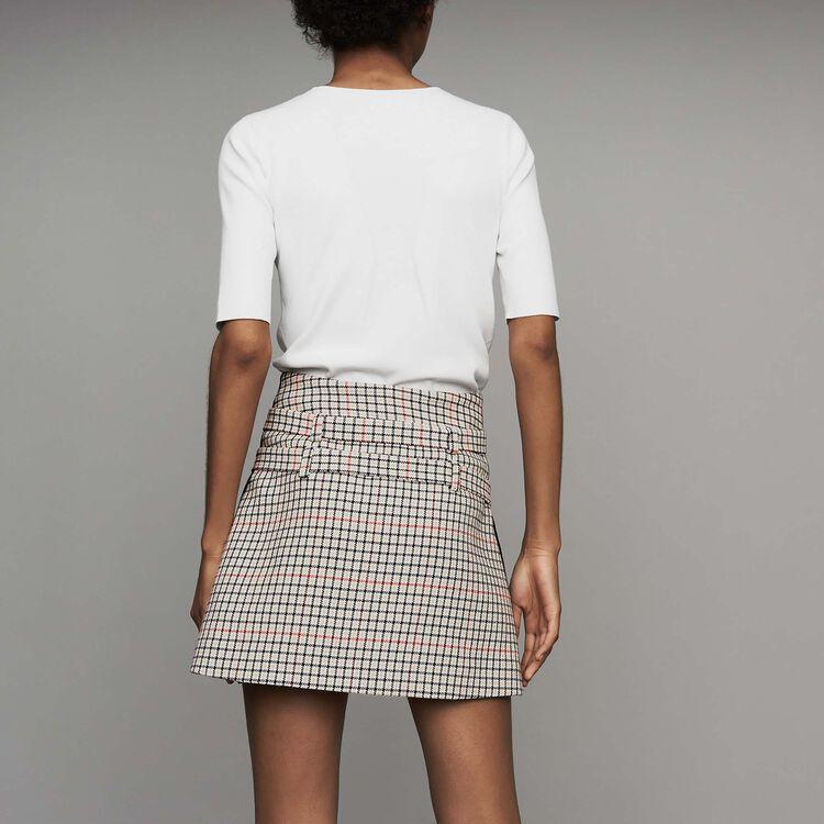 Short trompe-l'œil à carreaux : Jupes & Shorts couleur CARREAUX