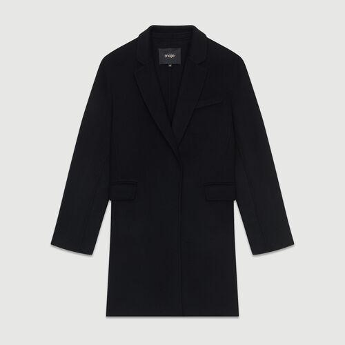 Manteau en laine double face : Prêt-à-porter couleur BLACK