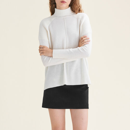 Pull à col roulé en cachemire : Pulls & Cardigans couleur ECRU
