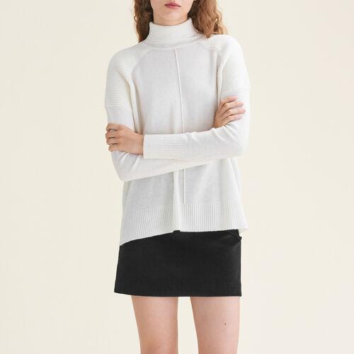 Cashmere roll-neck jumper : Sweaters & Cardigans color Ecru