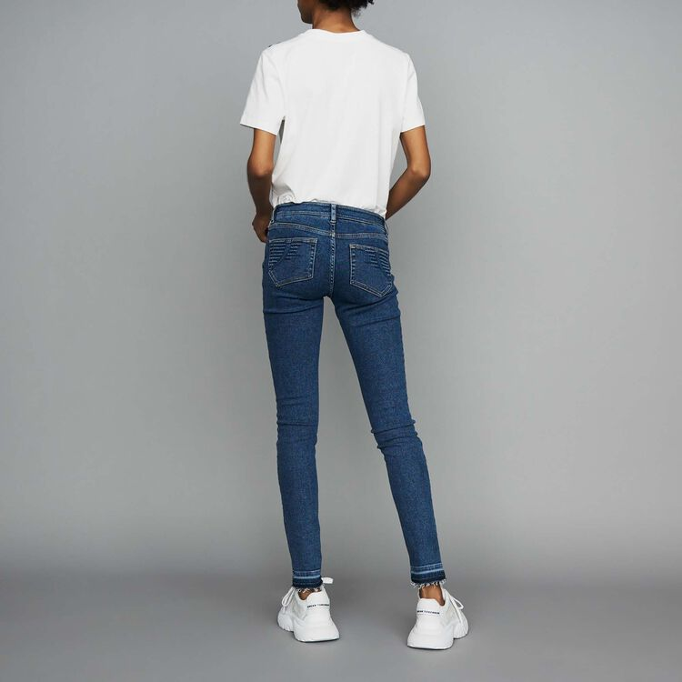 Jean skinny en denim : Le denim couleur Denim