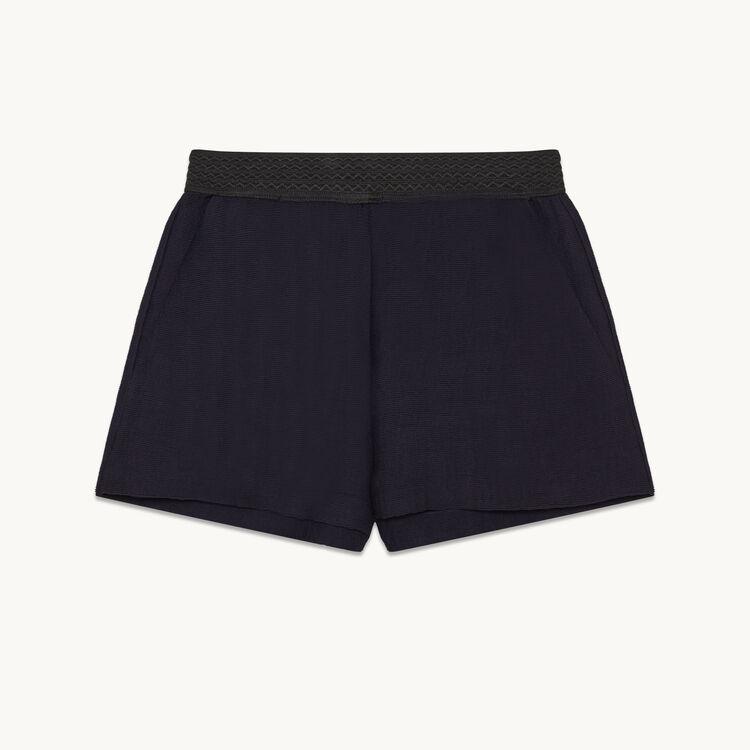 Short court en tissu ottoman : Petits Prix couleur Marine