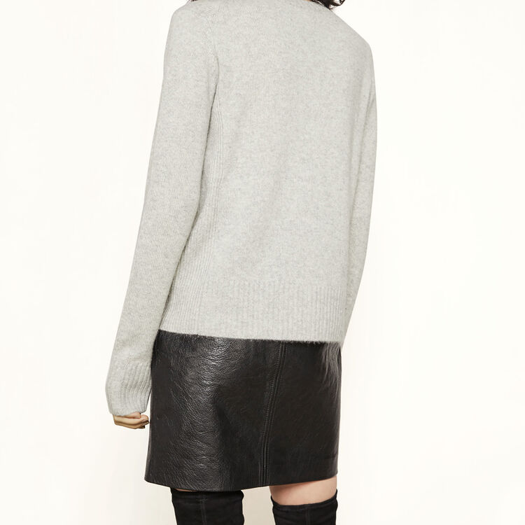Pull en cachemire : My mother couleur GRIS CHINE