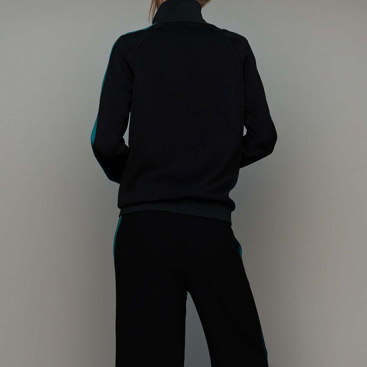 Veste esprit sportswear bicolore : Nouvelle Collection couleur Black