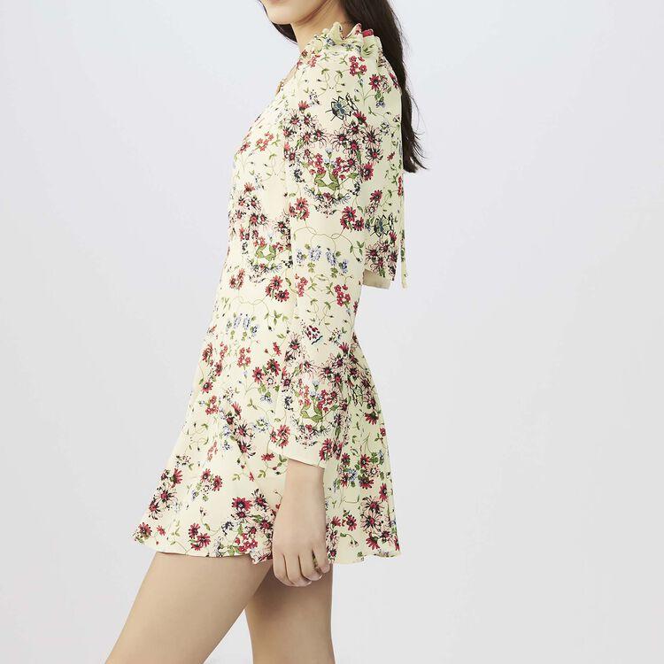 Combi-short imprimé en soie : Jupes & Shorts couleur IMPRIME