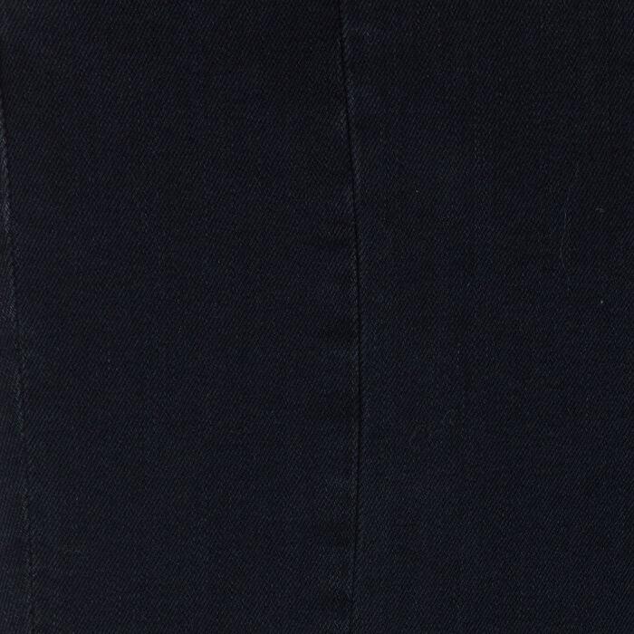 Jean asymétrique à franges : Jeans couleur