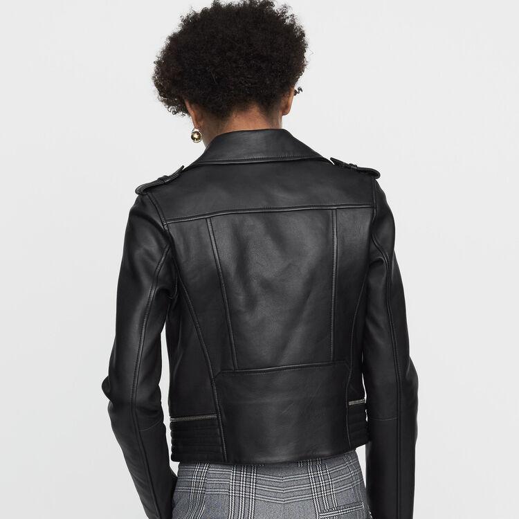 Blouson en cuir : Nouvelle Collection couleur Black