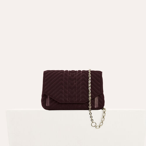 Sac evening en velours matelassé : Remises couleur BORDEAUX