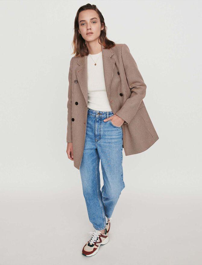 Plaid jacket-like coat - Coats & Jackets - MAJE
