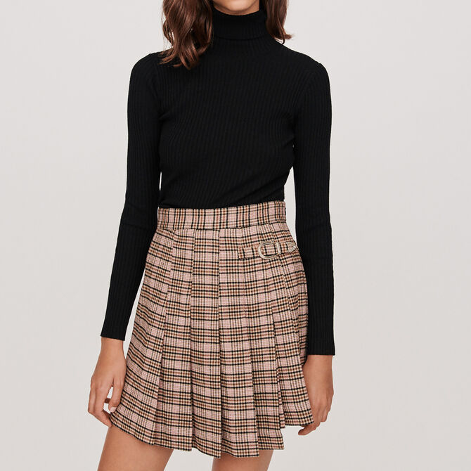 Pleated plaid kilt-style skirt - staff private sale 20 - MAJE