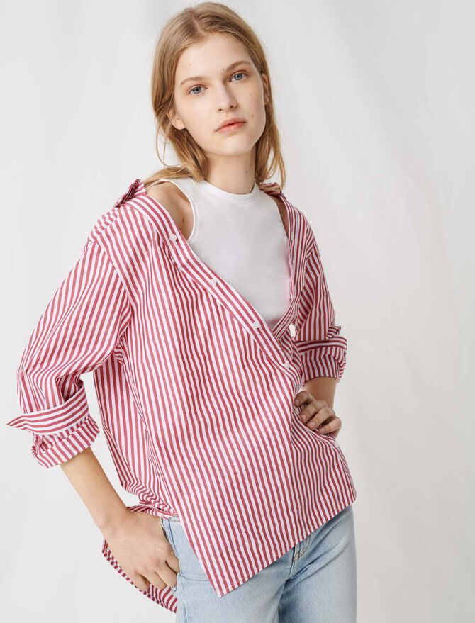 Top with scarf-style short sleeves -  - MAJE