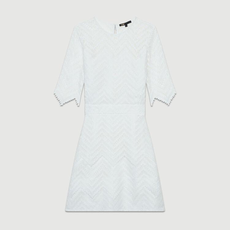 Robe droite en dentelle : Nouvelle Collection couleur Blanc