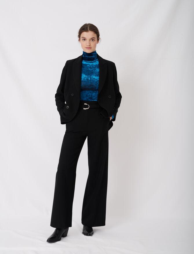 Pantalon large avec ceinture -  - MAJE
