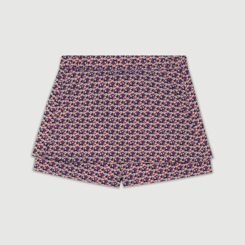 Short-jupe en jacquard : Jupes & Shorts couleur JACQUARD
