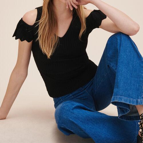 Pull en maille stretch : Pulls & Cardigans couleur BLACK
