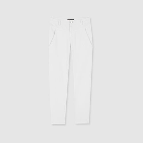 Jean droit à poches et découpes : Pantalons & Jeans couleur WHITE