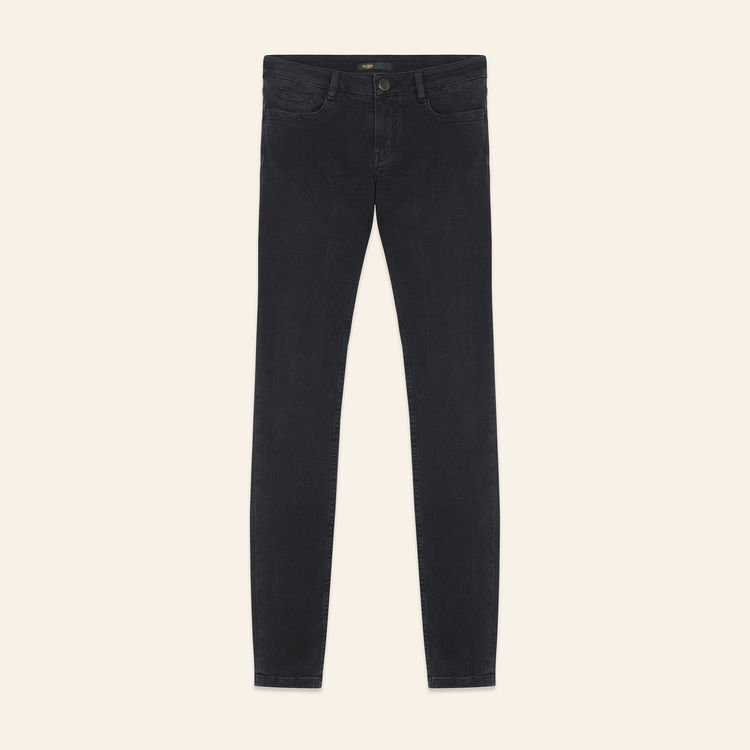 Jean skinny en coton Stretch : Jeans couleur Anthracite