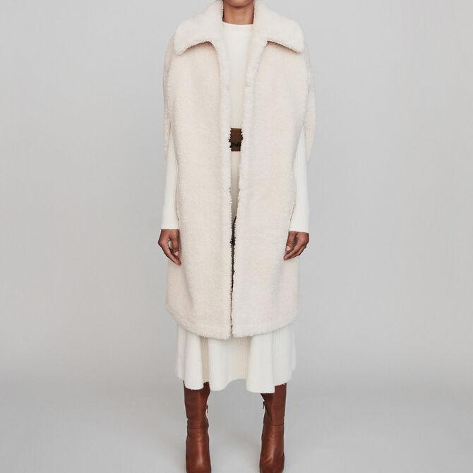 Manteau en fausse fourrure façon cape - Voir tout - MAJE