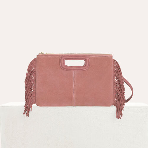 M Duo clutch in suede : M Duo color Pink
