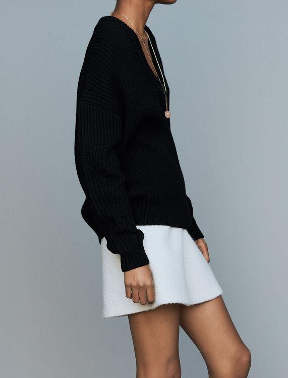 Pull oversize en laine mélangée : Nouvelle Collection couleur Black