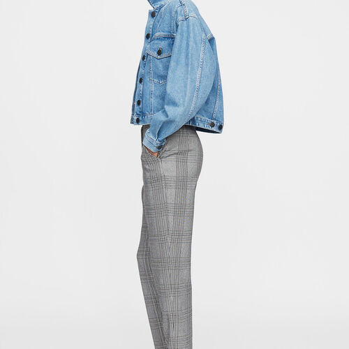 Straight pants : Trousers color CARREAUX