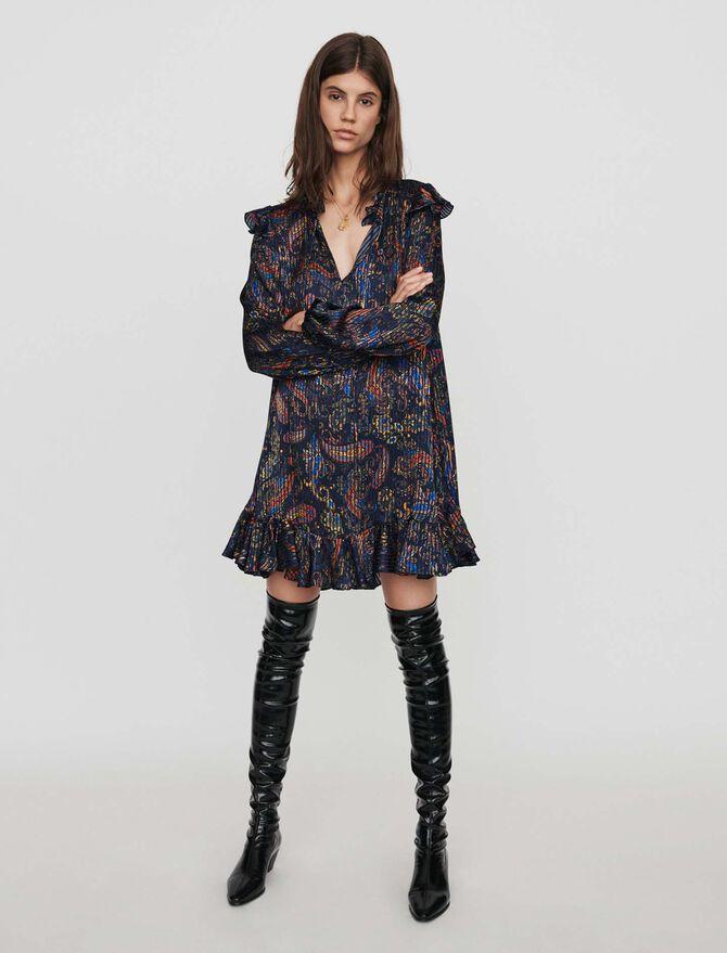Jacquard-printed babydoll dress - -20% - MAJE
