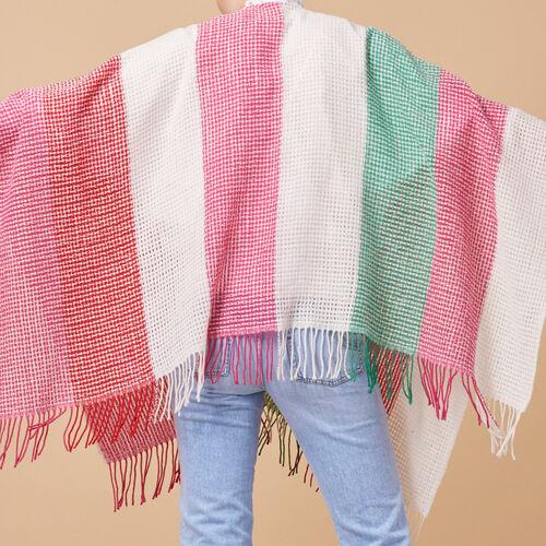 Wool-blend striped poncho - Voir Tout - MAJE