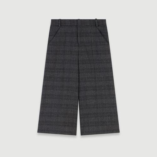 Plaid bermuda-style shorts : Skirts & Shorts color Grey
