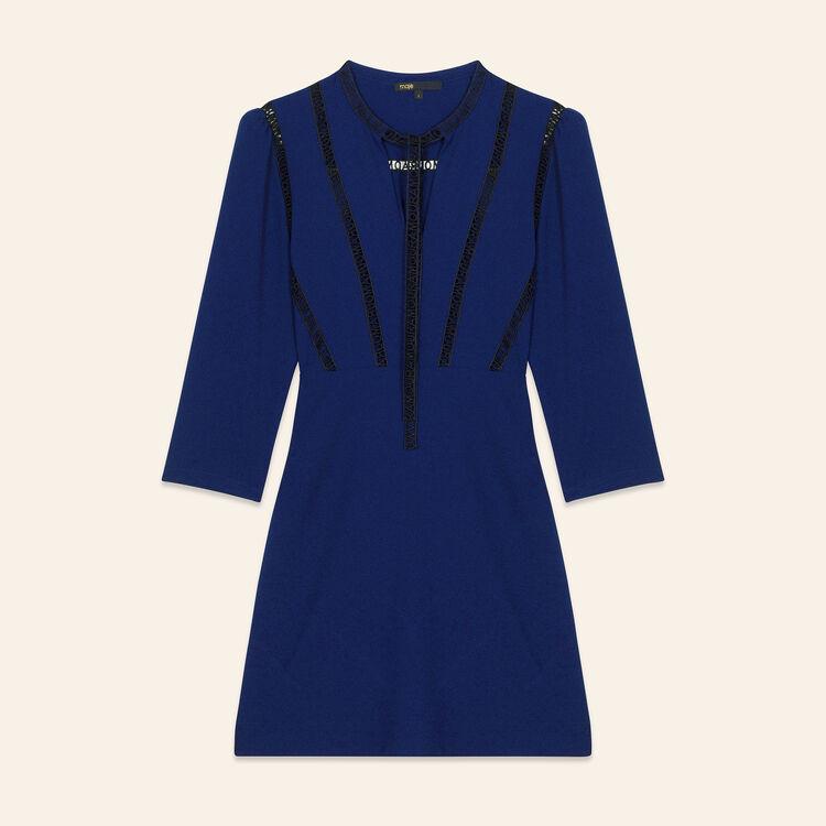 Robe courte avec galon AMOUR : Robes couleur Nuit