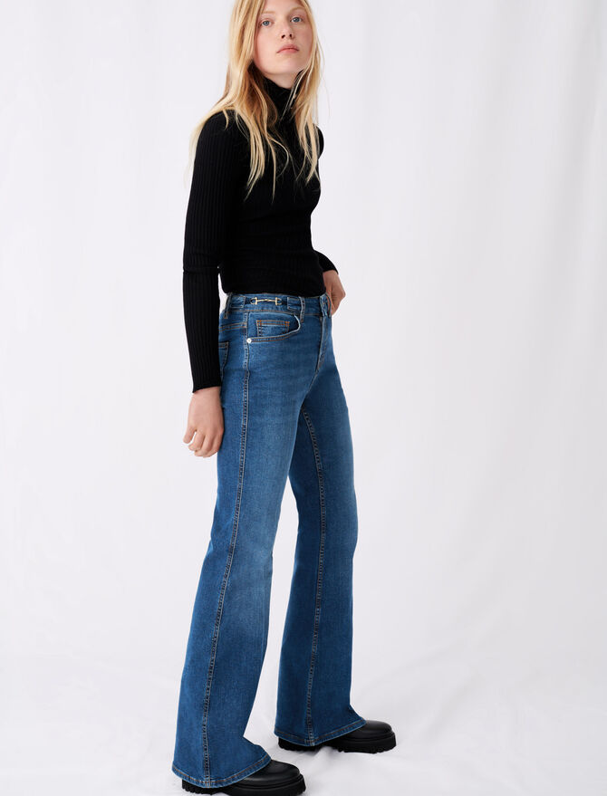 Flared jeans with horsebit detail - First stone selection - MAJE