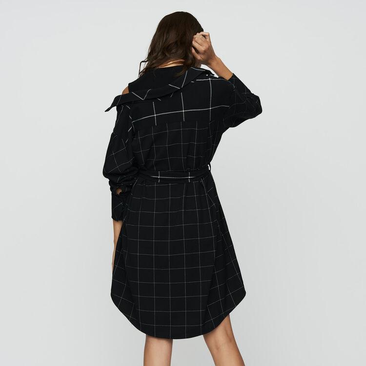 Robe-chemise asymétrique à carreaux : Prêt-à-porter couleur CARREAUX