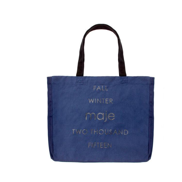 Shopping bag en coton : Gift with purchase couleur Bleu