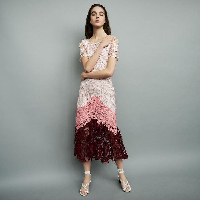 Robe longue en tissu technique : Robes couleur MULTICO