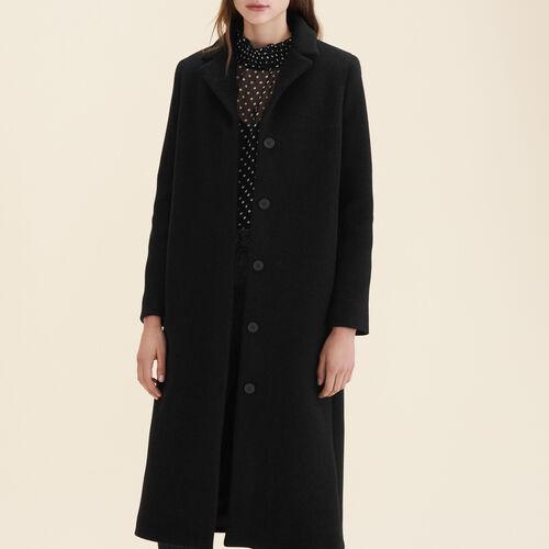 Long wool-blend coat : Coats & Jackets color Anthracite