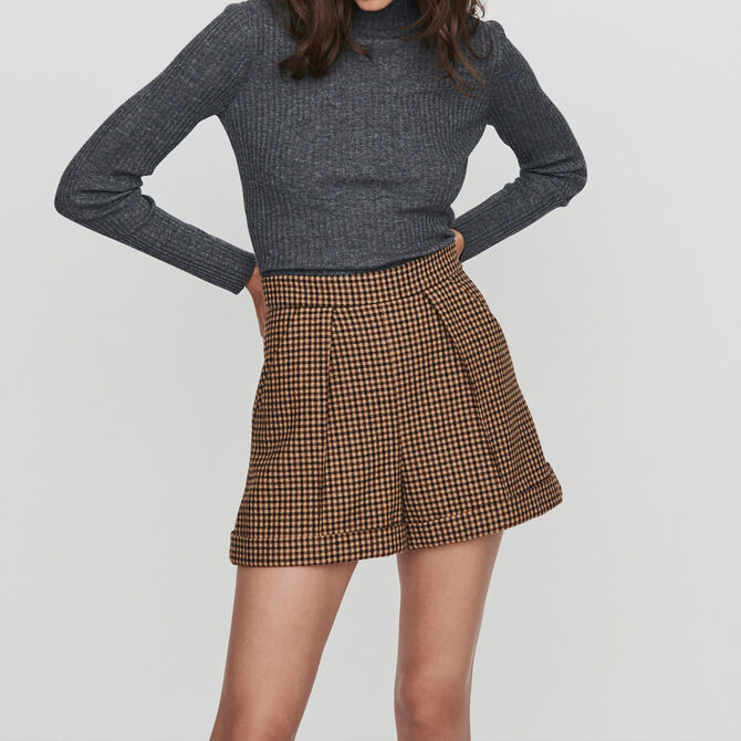 Plaid shorts with pleats and turn-ups - staff private sale 20 - MAJE