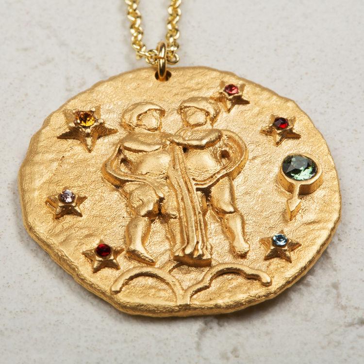 Collier Gémeau signe du zodiaque : Bijoux couleur OR