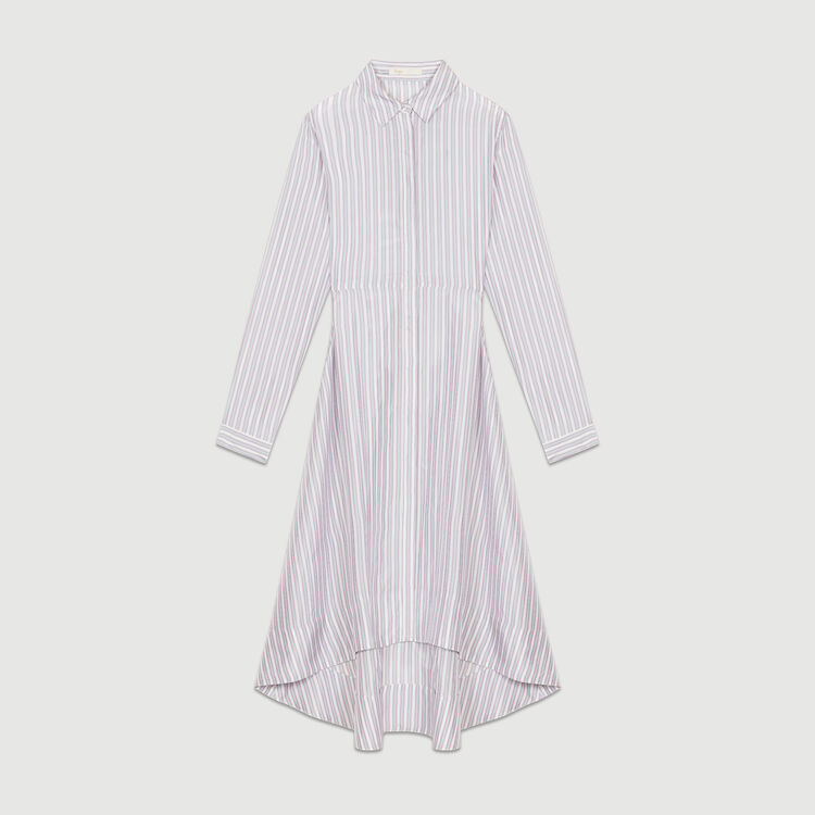 Robe-chemise asymétrique à rayures : Robes couleur Rayure