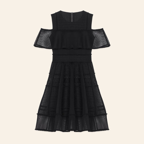 Robe sans manches en maille filet : Robes couleur BLACK
