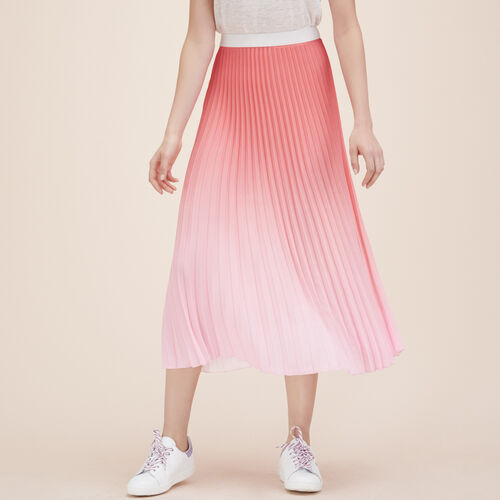 Pleated tie-dye midi skirt : Skirts & Shorts color Pink