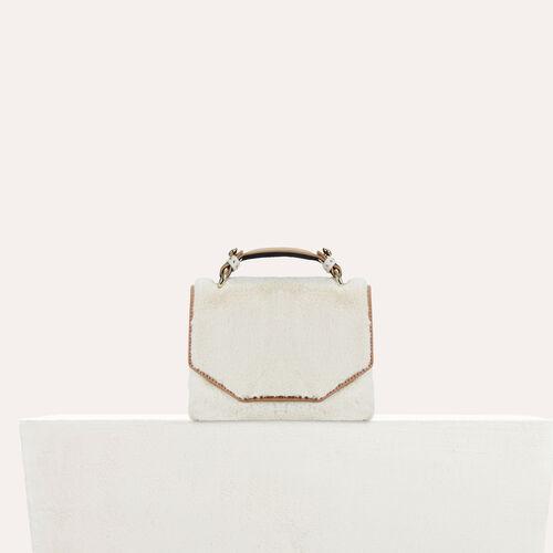 Faux-fur evening handbag : See all color Black 210