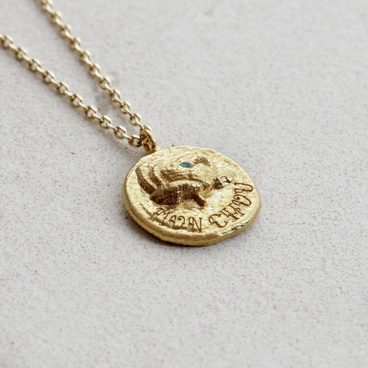 "Necklace with medallion ""Mon chou"" : Jewelry color GOLD"
