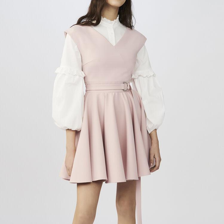 Robe patineuse sans manches en crêpe : Robes couleur Rose