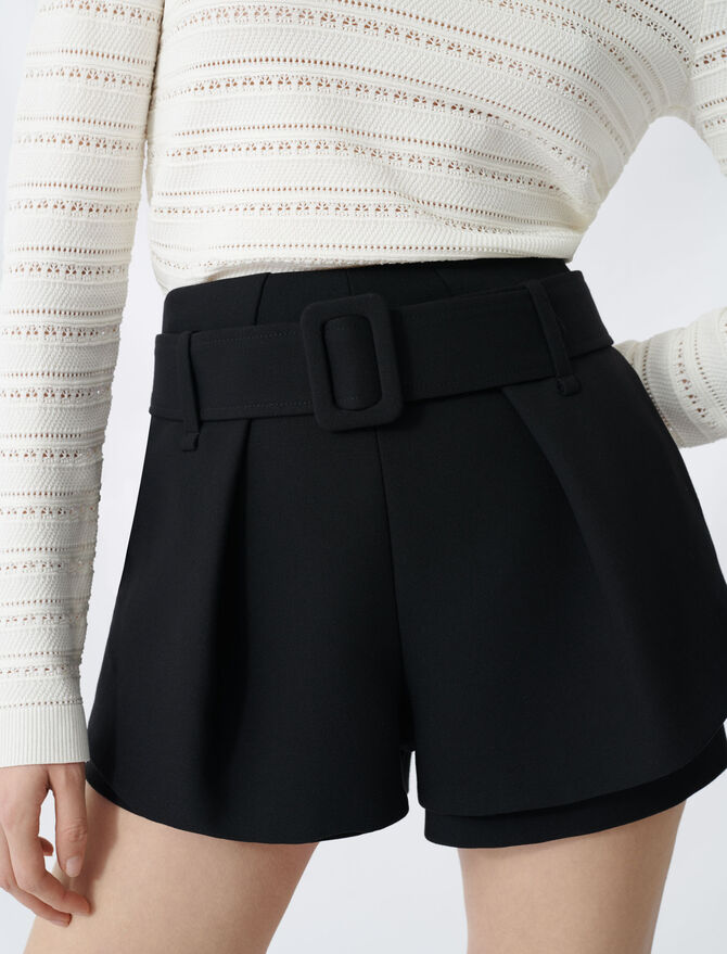 Pleated trompe-l'oeil short - New collection - MAJE