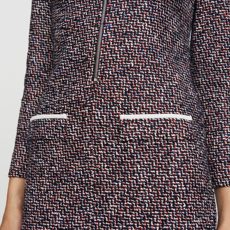 Robe-chemise en tweed : Tout voir couleur Jacquard