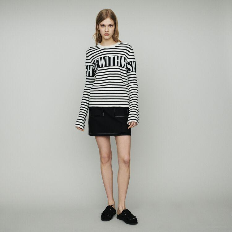 Pull à rayures façon marinière : Pulls & Cardigans couleur ECRU