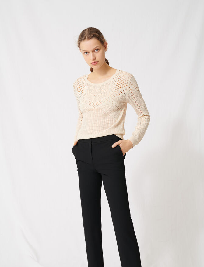 !Lightweight decorative knit jumper - Pullovers & Cardigans - MAJE