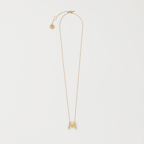 Necklace with initial pendant : Colliers Alphabet color GOLD