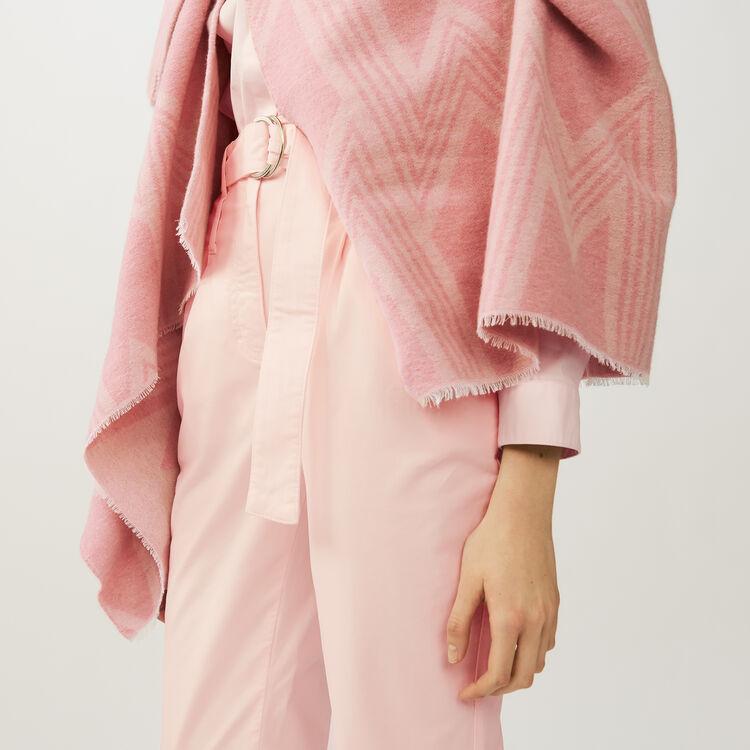 Poncho imprimé M : Châles & Ponchos couleur ROSE