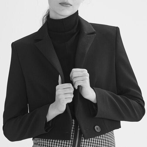 Veste courte type spencer : Vestes couleur Black