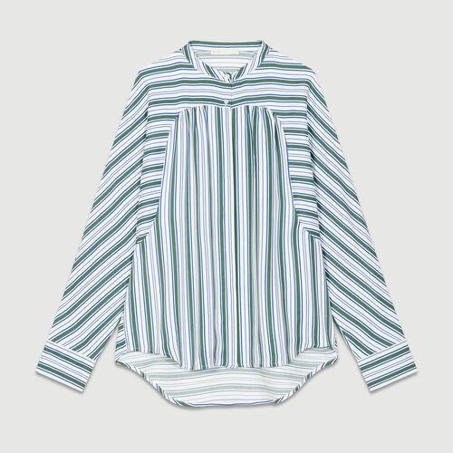 Chemise oversize à rayures : Chemises couleur IMPRIME